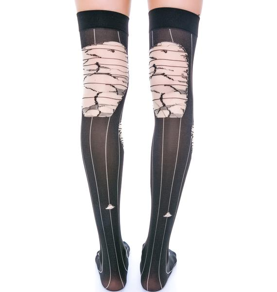 Filthy Distressed Thigh Highs