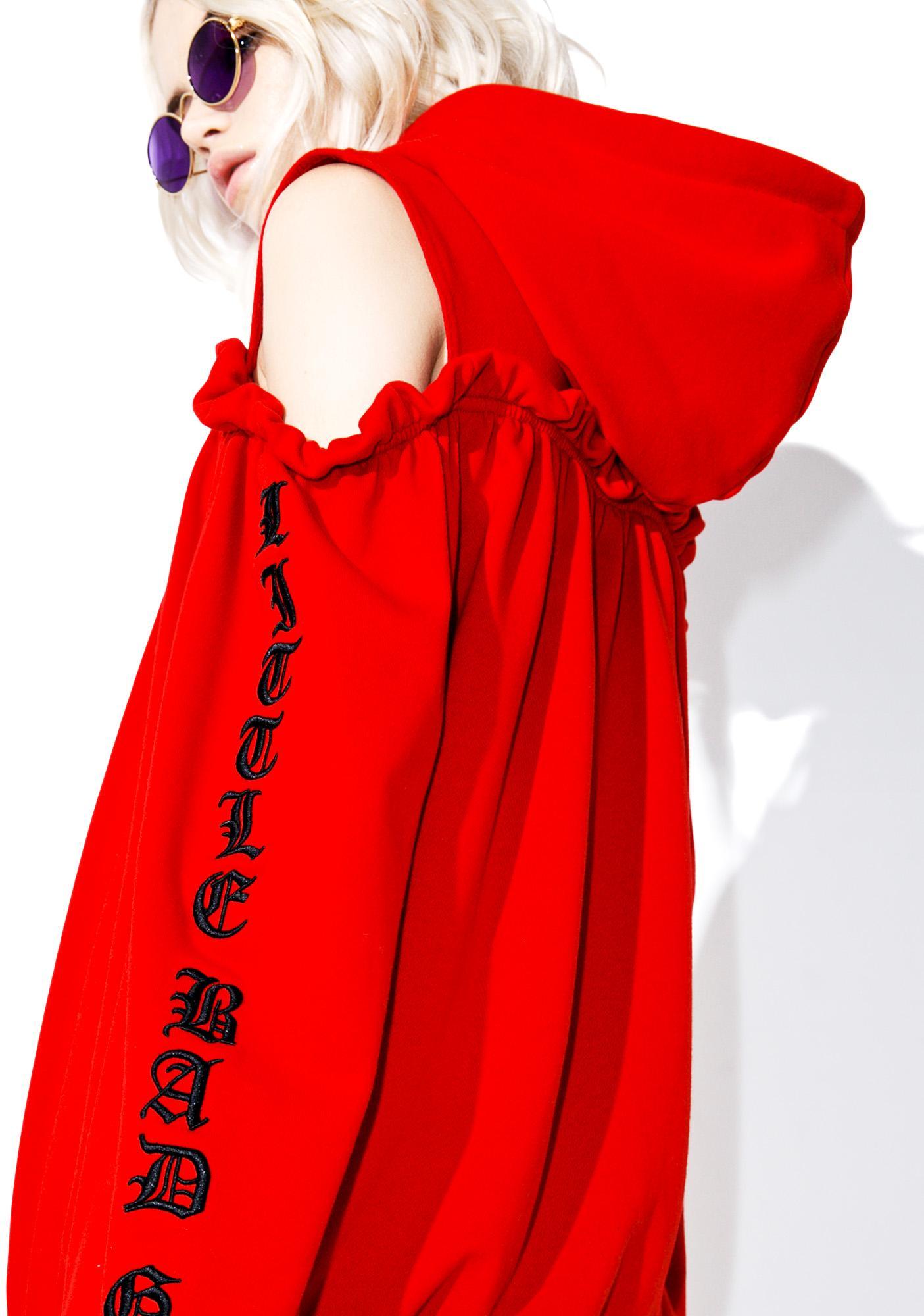 one spo Long Sleeve Embroidery Hoodie