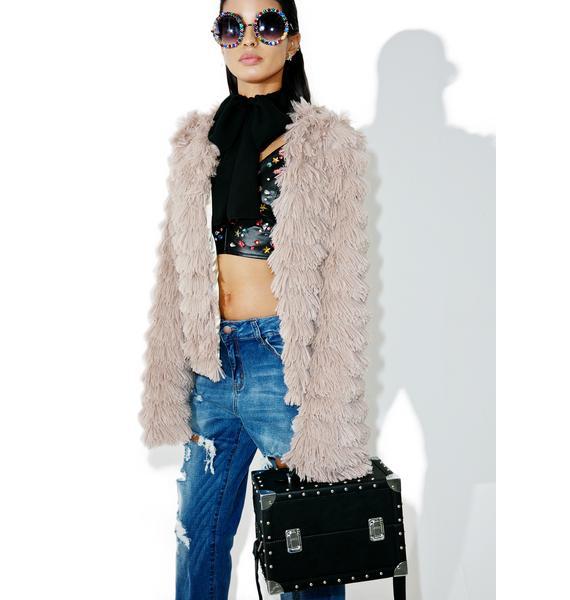 Lyon Shaggy Faux Fur Jacket