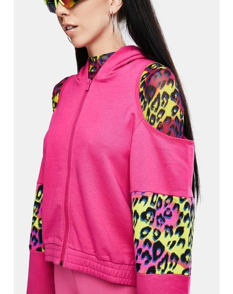 Fuchsia Authentic Delia Graphik 2 Zip Up Hoodie
