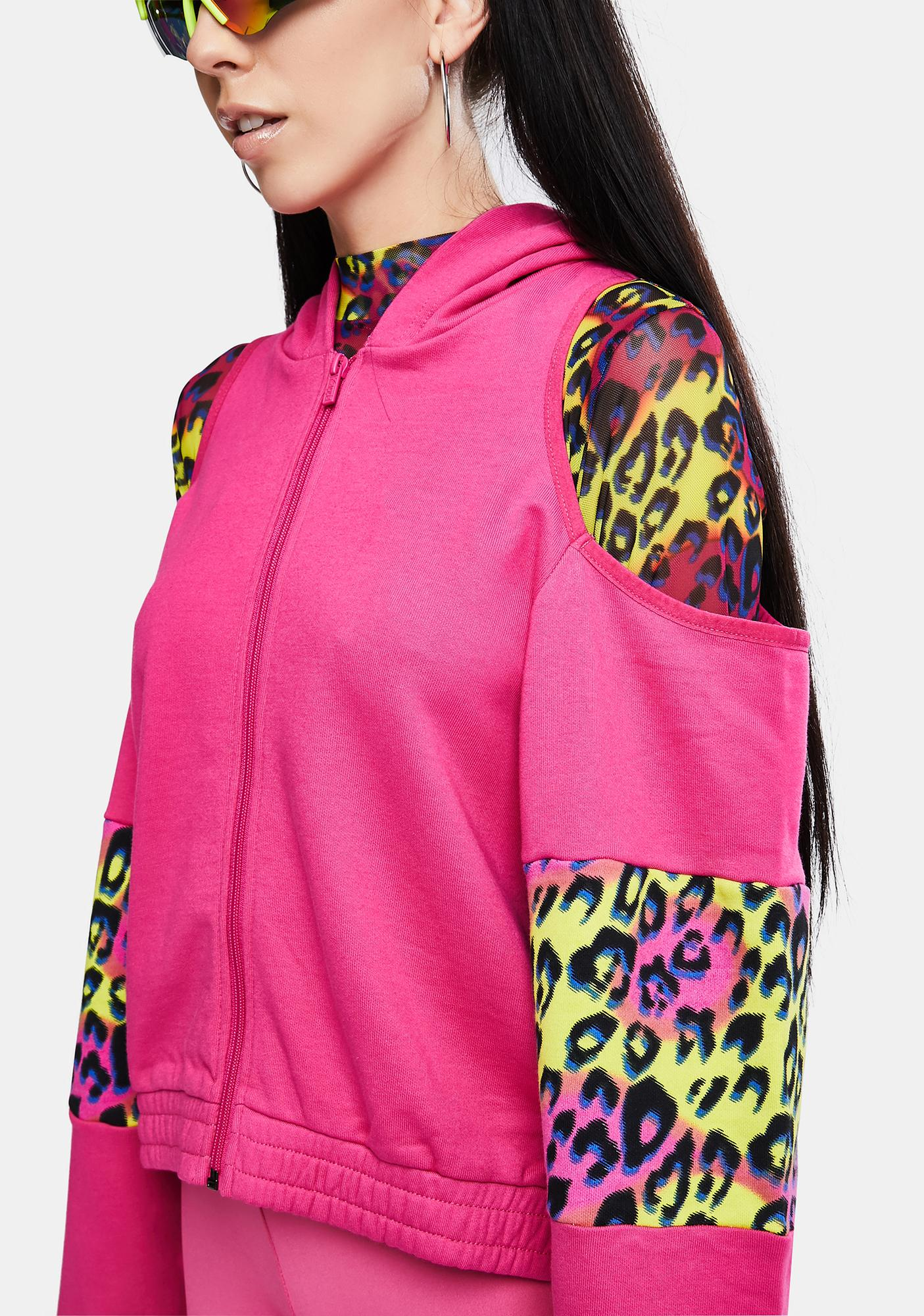 Kappa Fuchsia Authentic Delia Graphik 2 Zip Up Hoodie