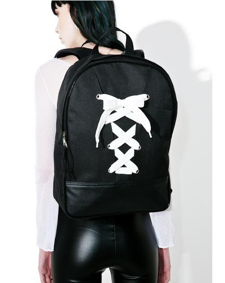 Crossed Wires Lace-Up Backpack