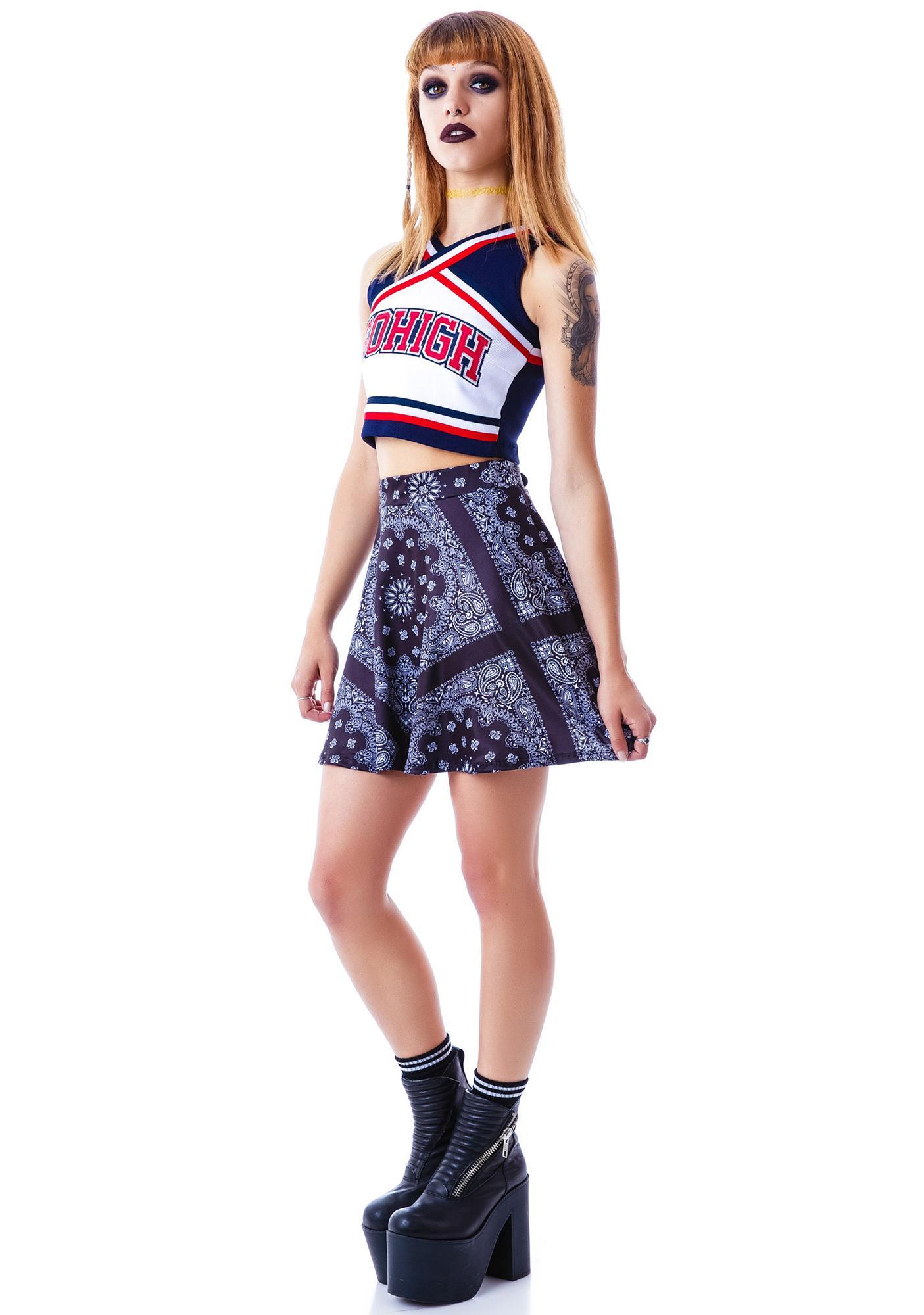Yeehaw Bandana Skater Skirt