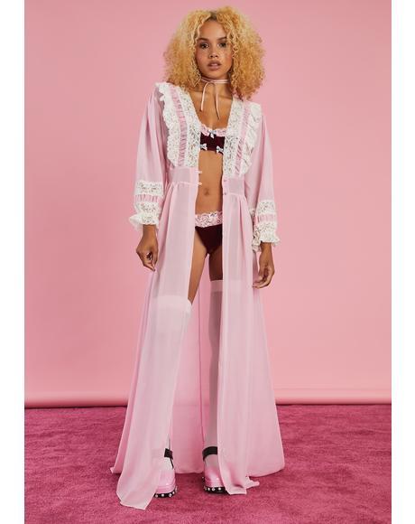 Expecting Company Chiffon Robe