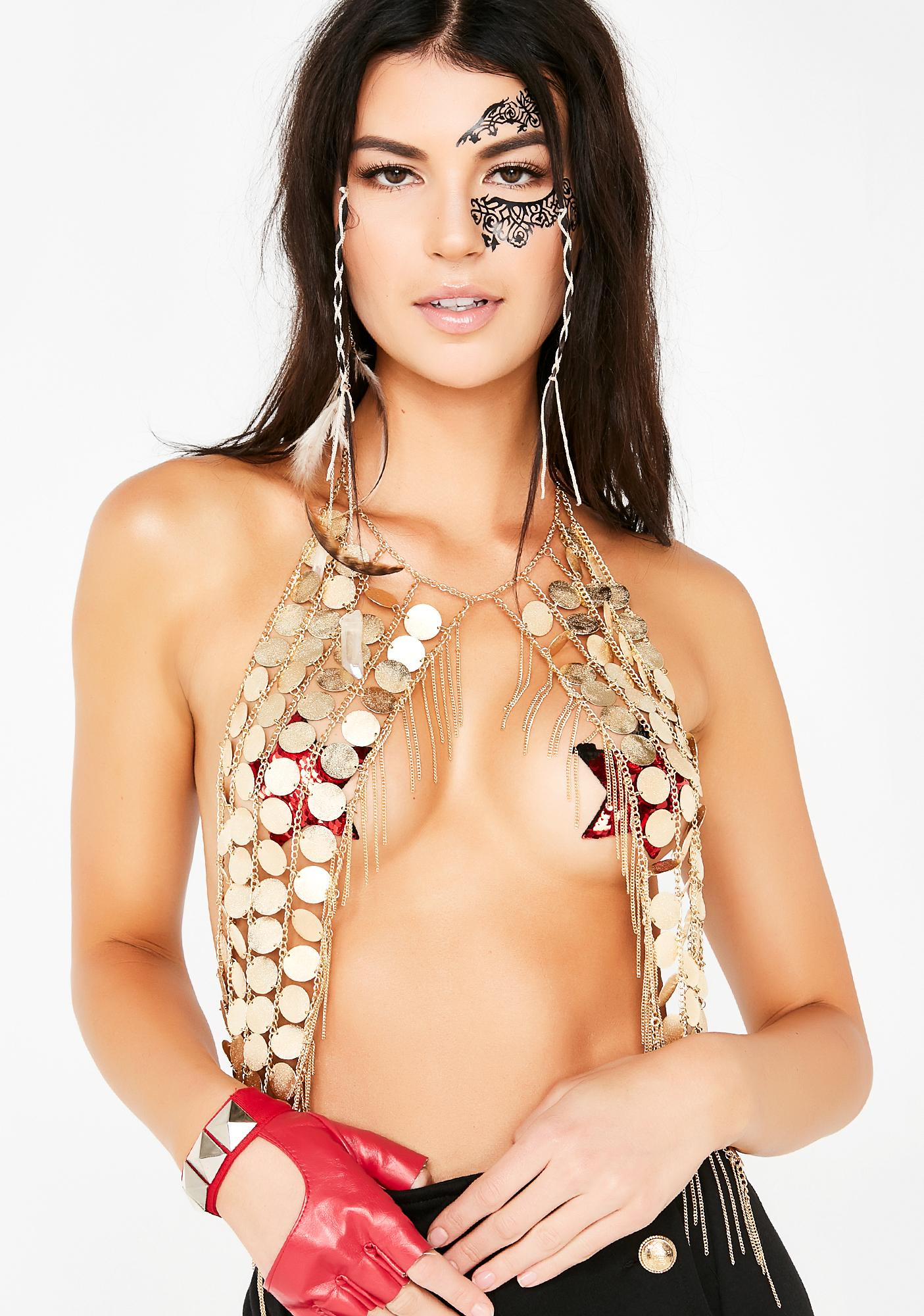 Golden Desert Queen Body Chain