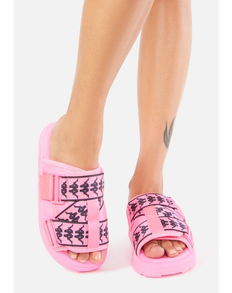 Solid Pink 222 Banda Mitel 1 Sandals