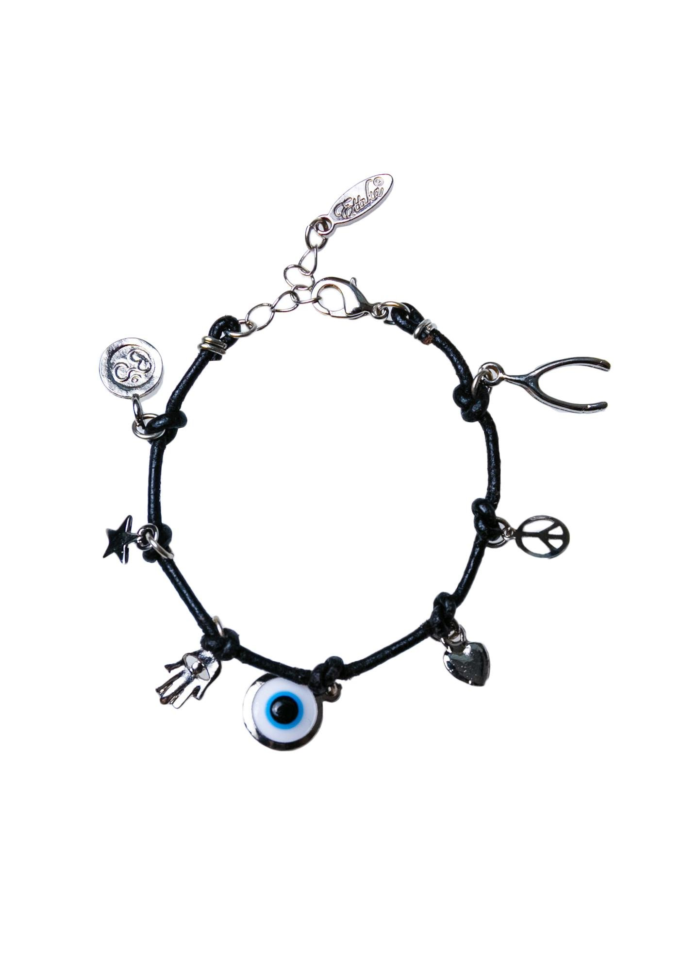 Ettika The Charmed Leather Bracelet