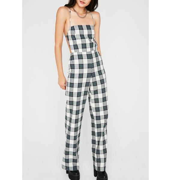 High Society Plaid Jumpsuit