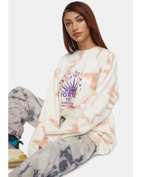 Tie Dye Fortune Teller Sweatshirt