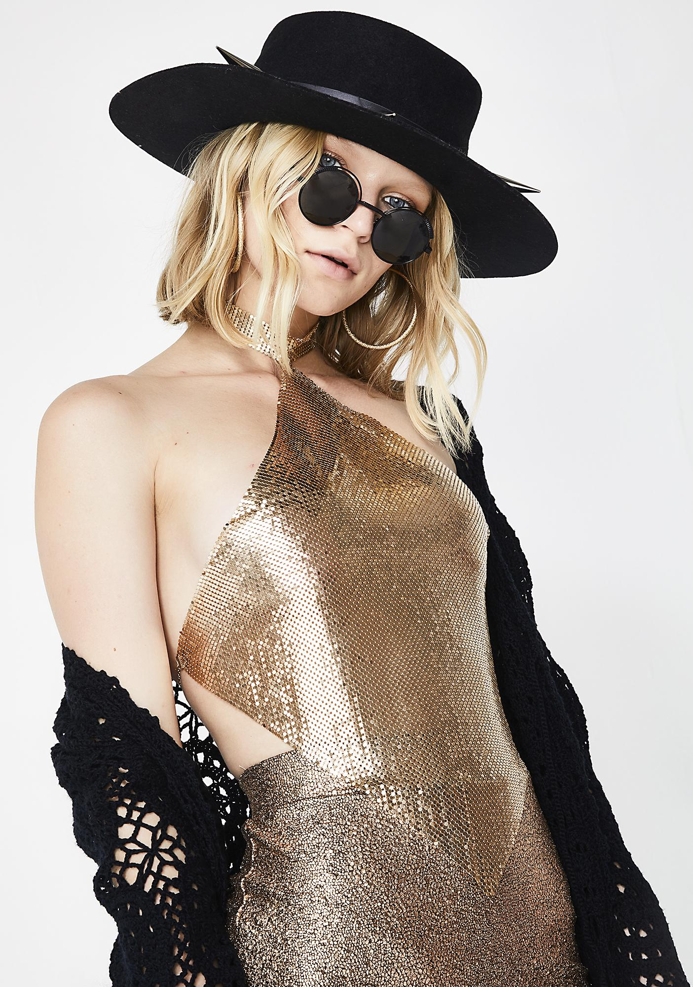 Golden Touch Chainmail Choker Top