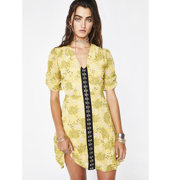 Glamorous Wet Hot Summer Floral Dress
