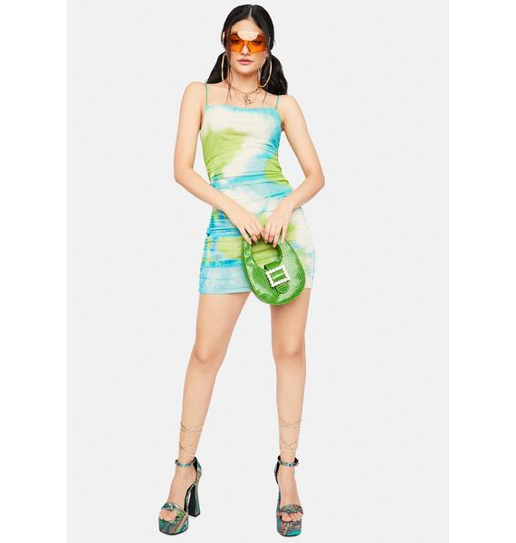 Sea Get My Permission Tie Dye Mini Dress