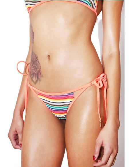 Zooey Rainbow Yarn Dye Bikini Bottoms