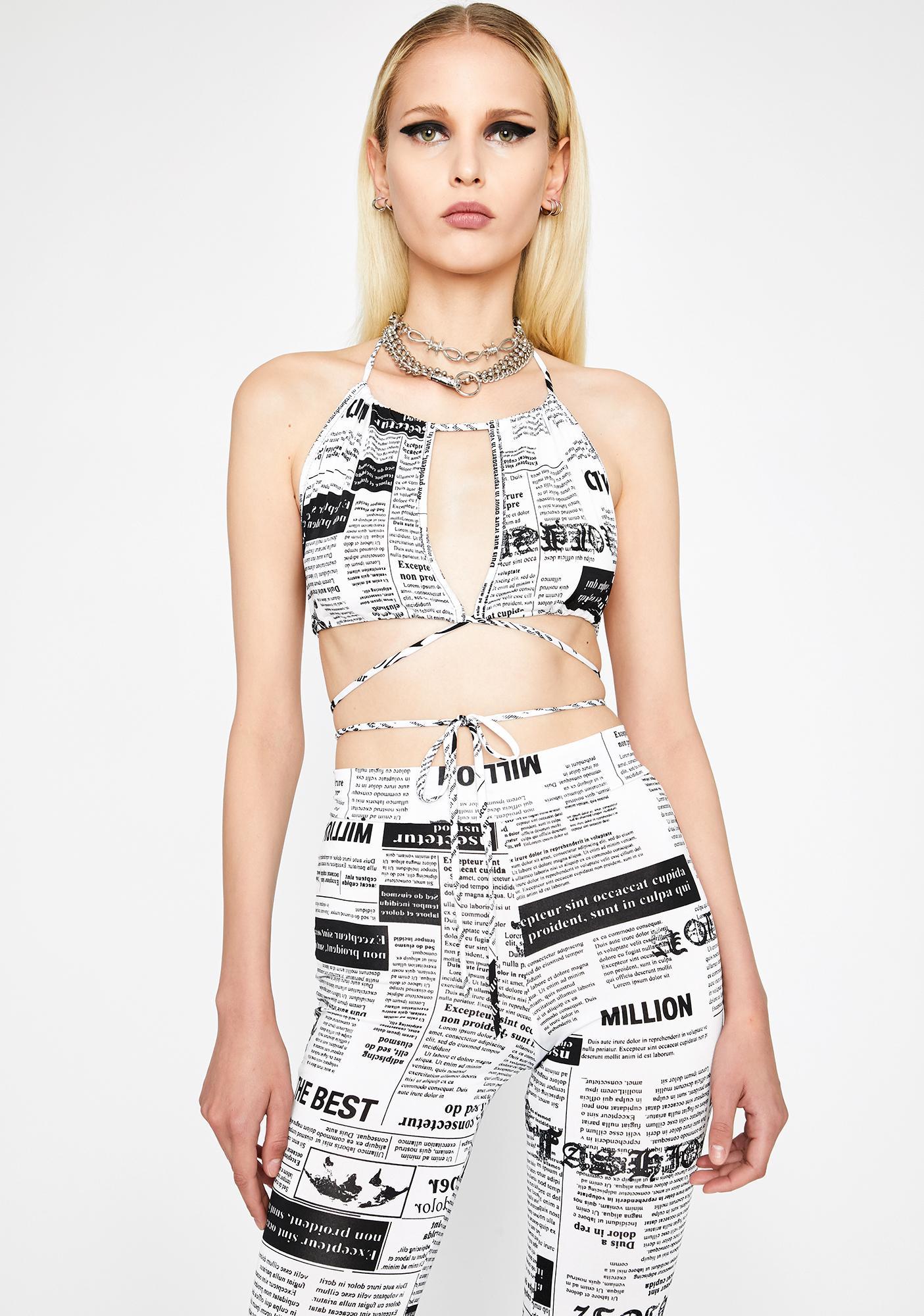 You've Been Read Newsprint Set