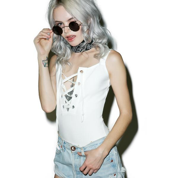 Summa Solstice Lace-Up Bodysuit