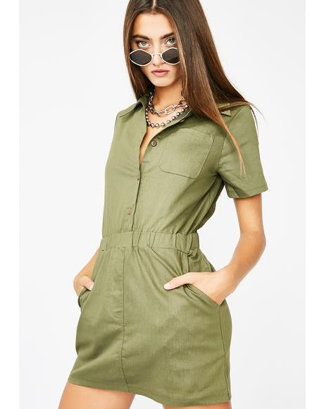 Safari Baddie Mini Dress