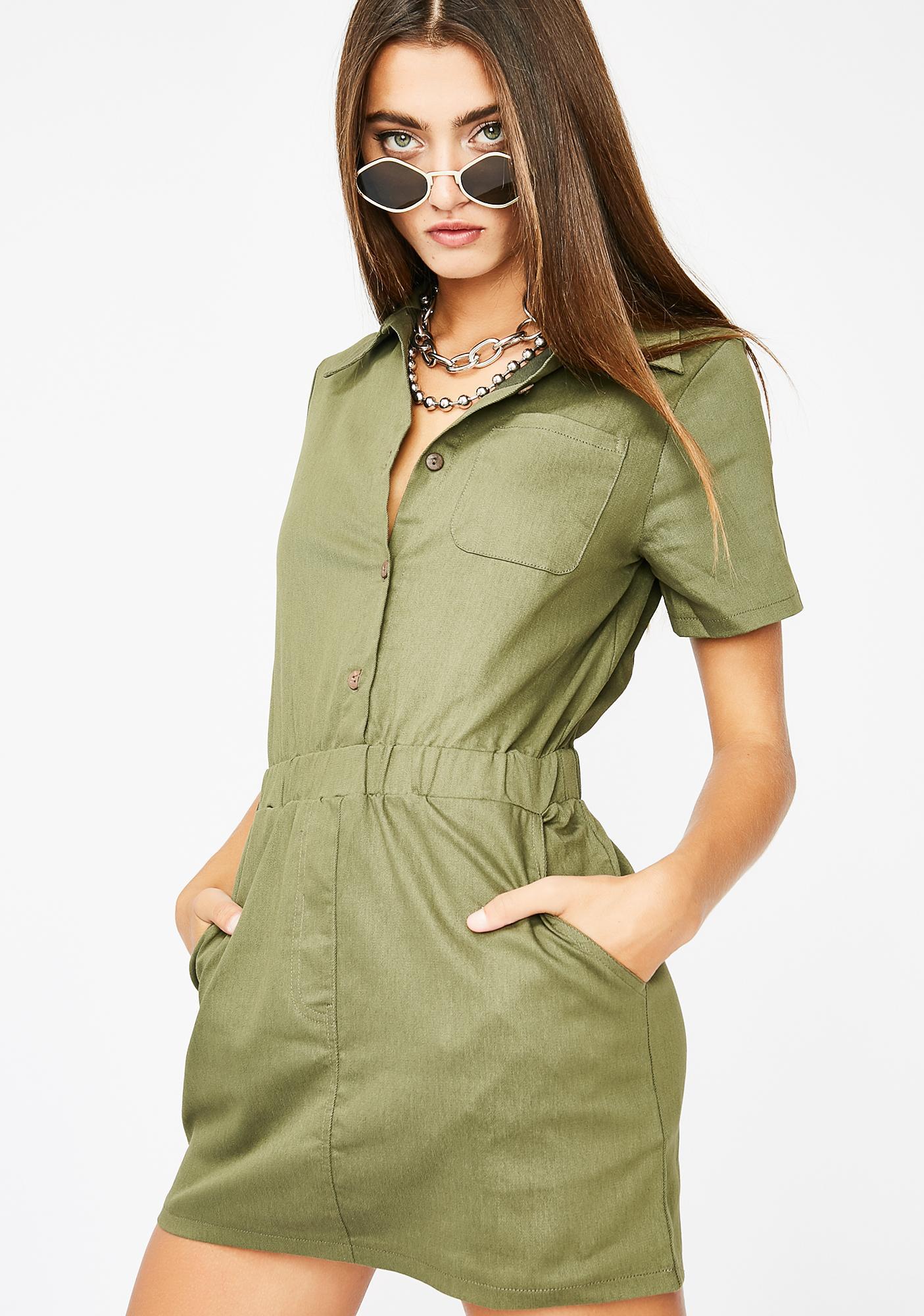 Safari Baddie Mini Dress