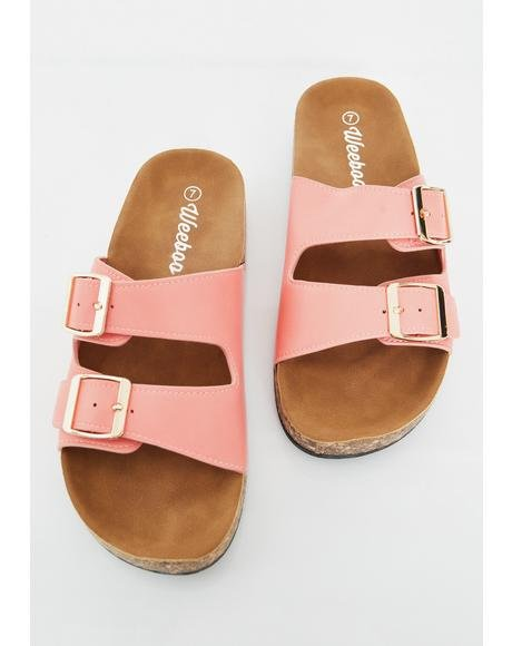 Sweet Sandy Paradise Buckle Sandals
