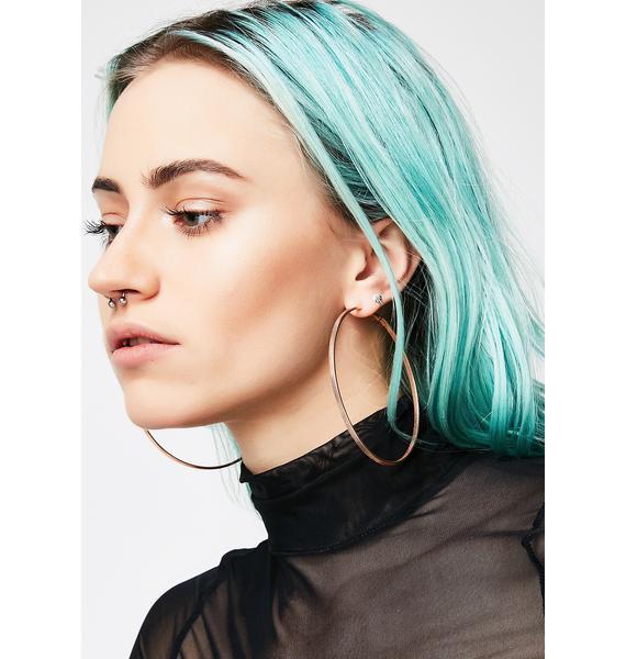 Up In This Hoop Earrings