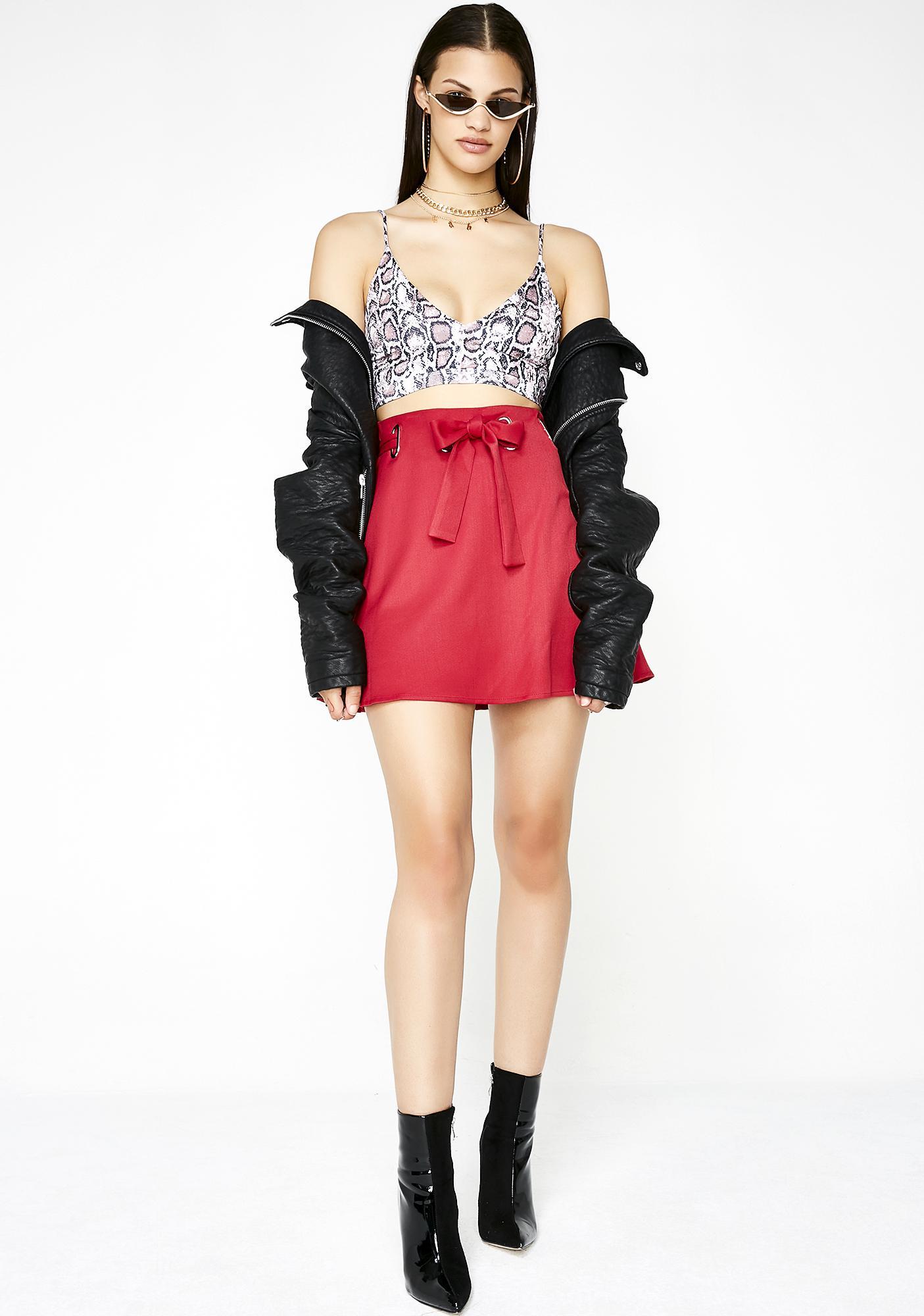 Bow Down Mini Skirt