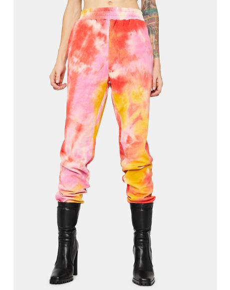 Sunset Gotta Werk It Tie Dye Joggers