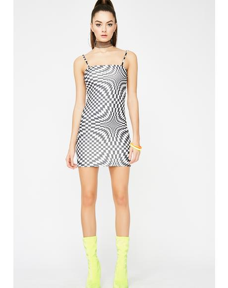 Body High Checkered Mini Dress