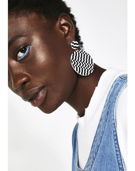 Full Circle Checkered Earrings