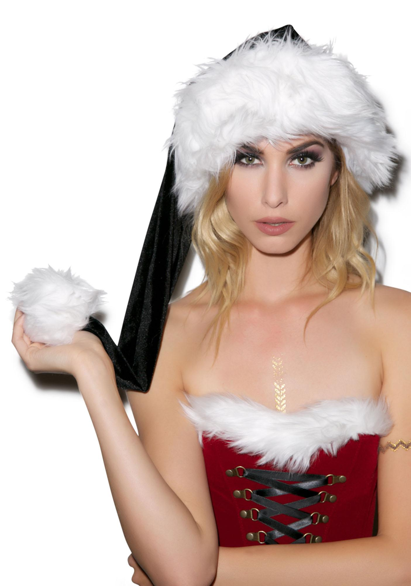 J Valentine Dark Nights Deluxe Santa Hat