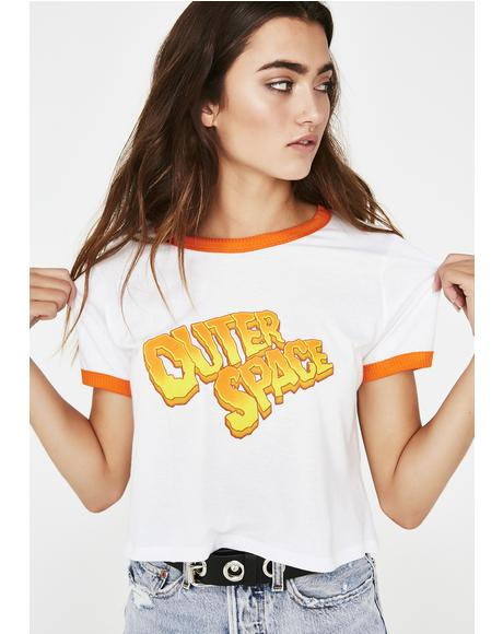 Outer Space Crop Tee