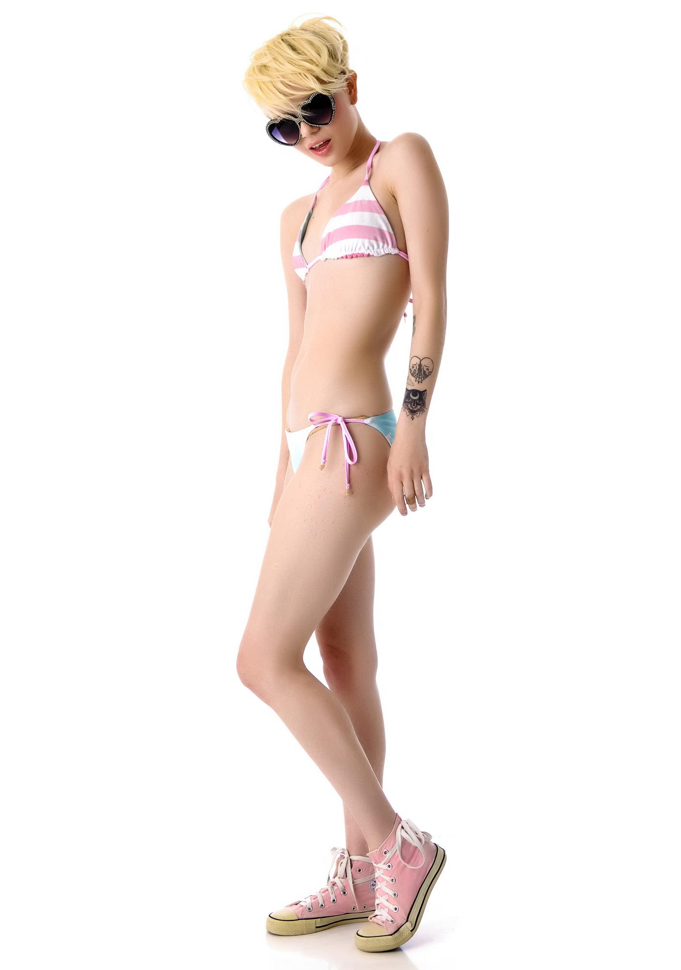 Wildfox Couture Reversible USA Flag Bikini