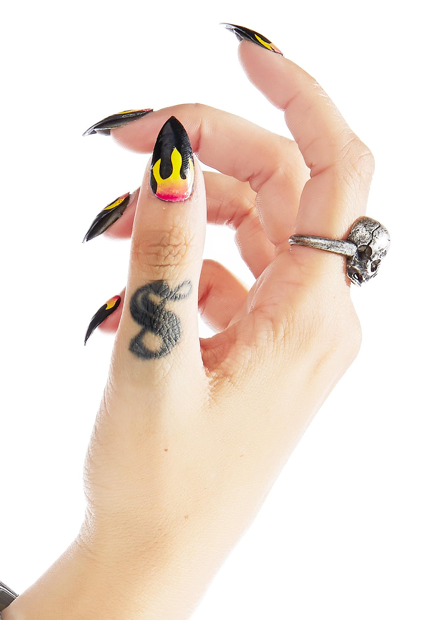 Rave Nailz Flame Nail Set