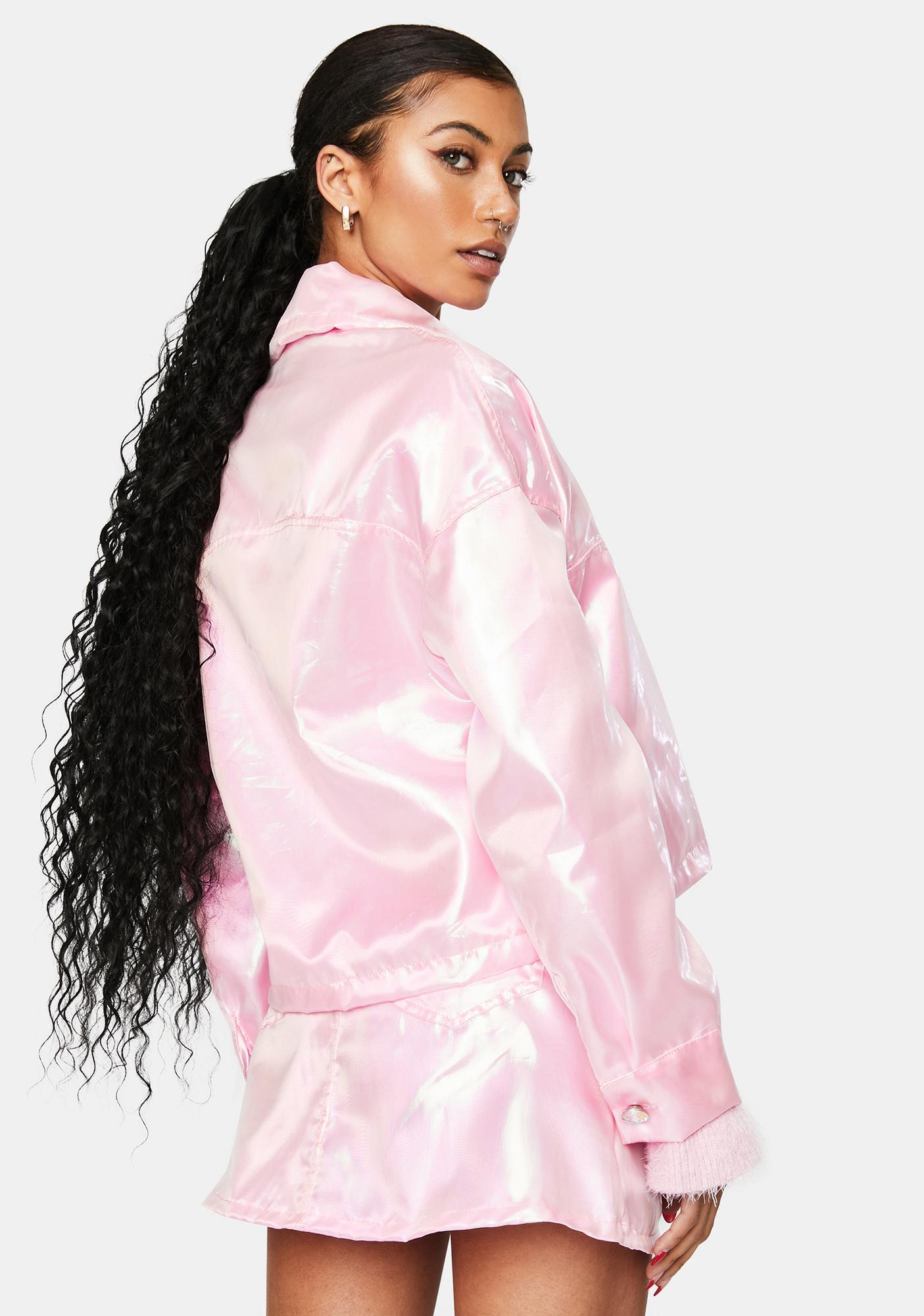 Sparkl Fairy Couture Light Pink Fairy Dust Iridescent Jacket