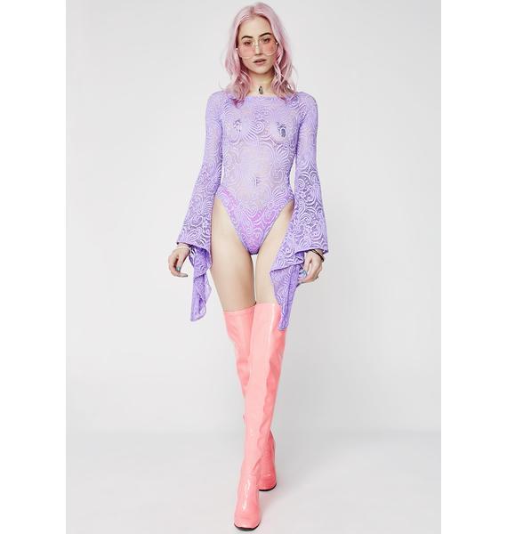 J Valentine Pixie Cyclone Lace Bodysuit