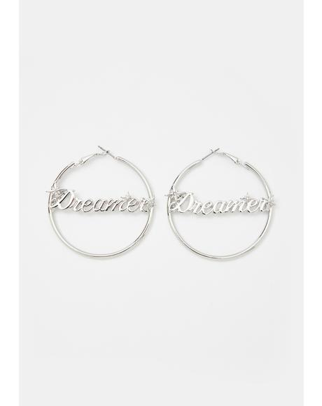 Lost In Thought Hoop Earrings