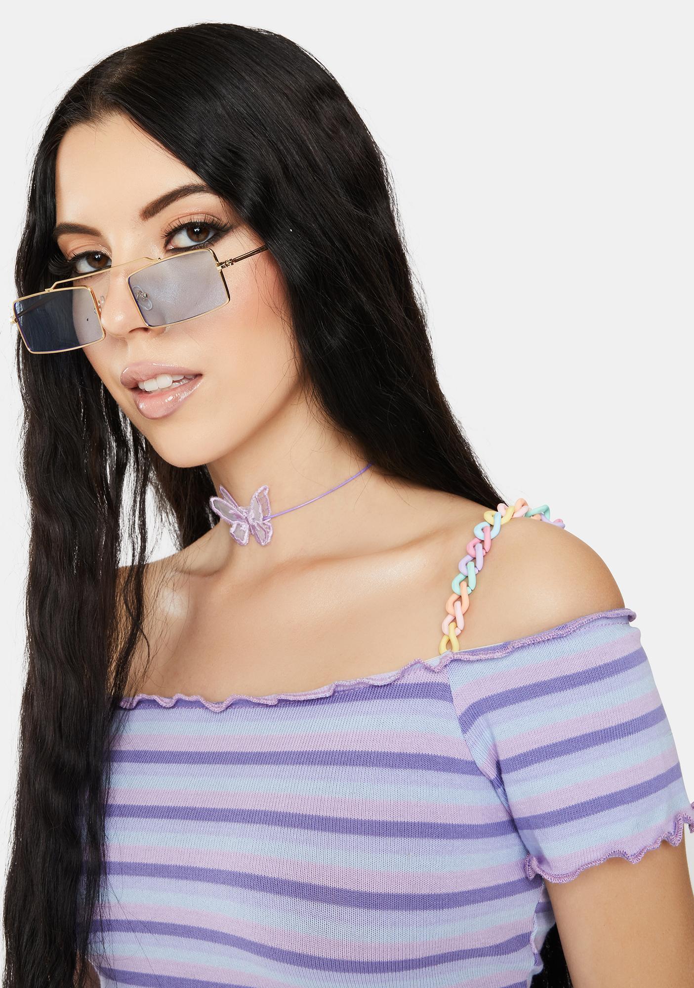 Sky Retro Fly Rectangular Sunglasses