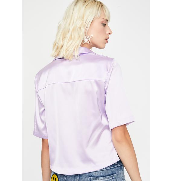 Grape Hella Bossy Satin Top