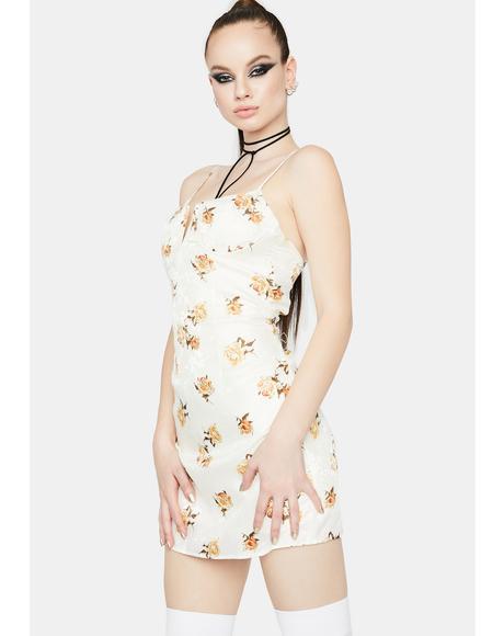 Just Like Me Floral Mini Dress