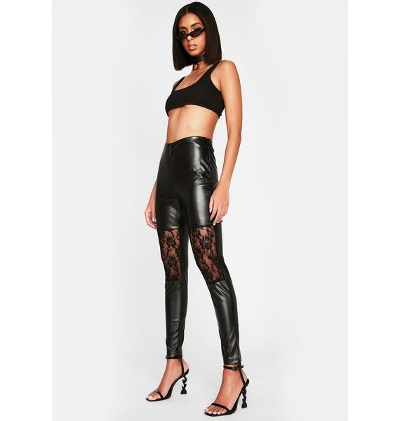 Hard To Believe Vegan Leather Leggings
