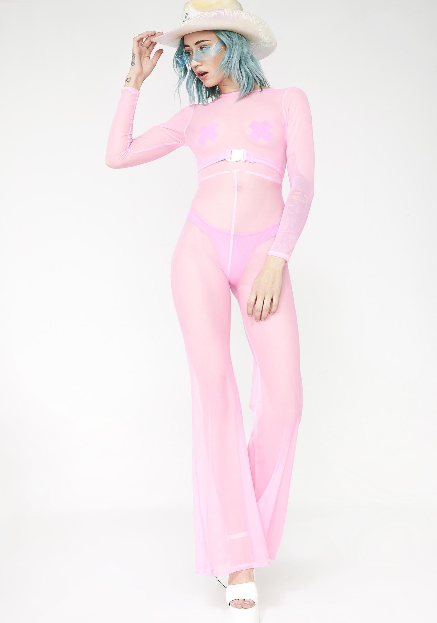 Babydol Clothing Barbie Pink Sheer Jumpsuit