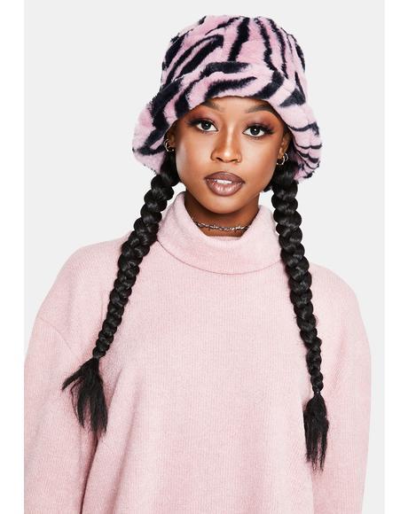 Mildly Wild Zebra Print Bucket Hat