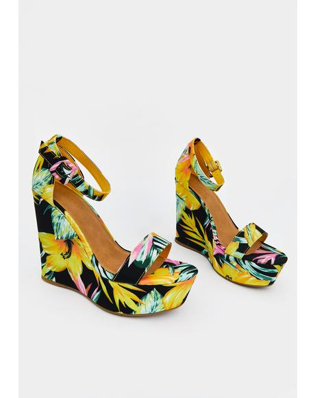 Sunny Secret Paradise Wedge Heels