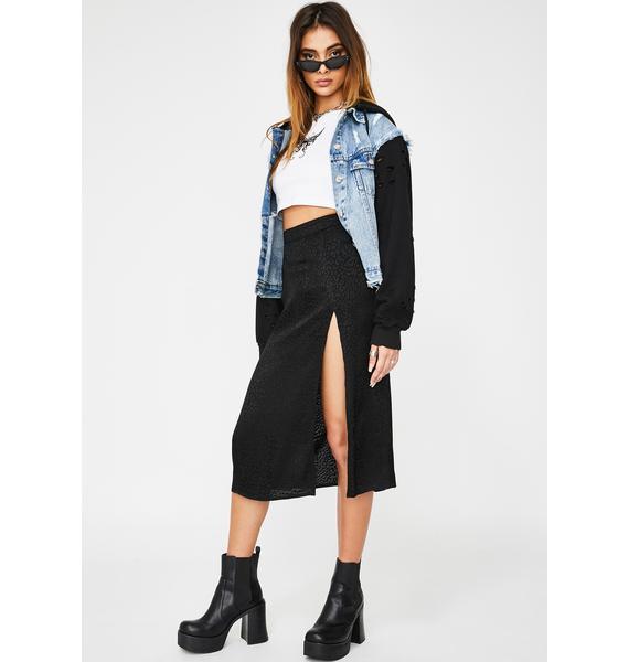 Motel Black Cheetah Saika Skirt