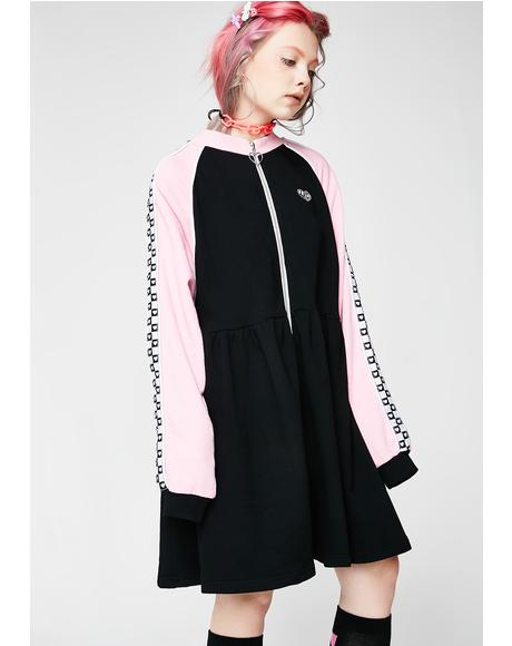 Sports Club Zip Sweater Dress