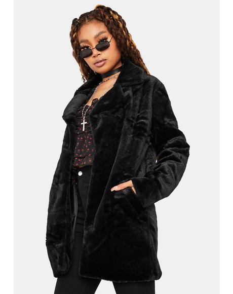 Night Seen Canoodling Faux Fur Jacket