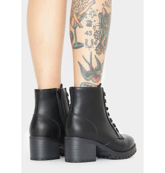 Later Days Lace Up Booties