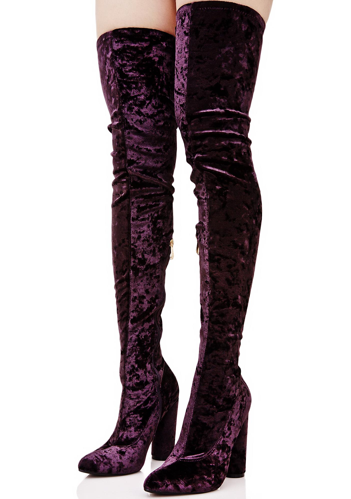 Amethyst Planetary Thigh-High Boots