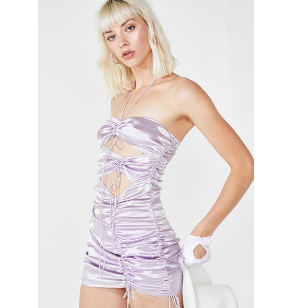 For Love & Lemons Sonora Drawstring Mini Dress