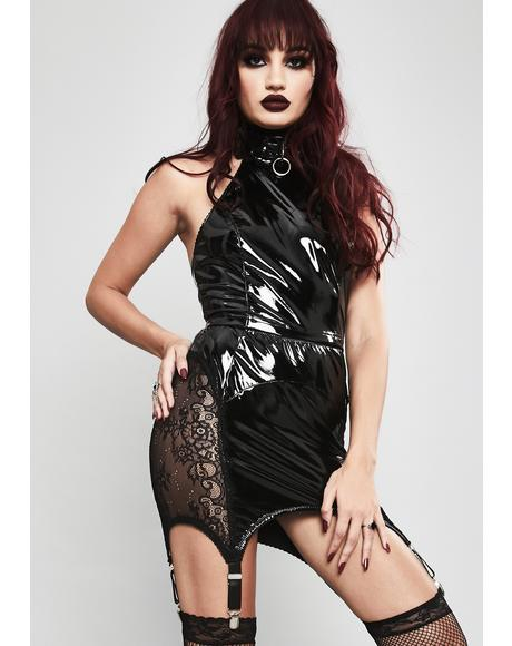 Twisted Desire Vinyl Skirt