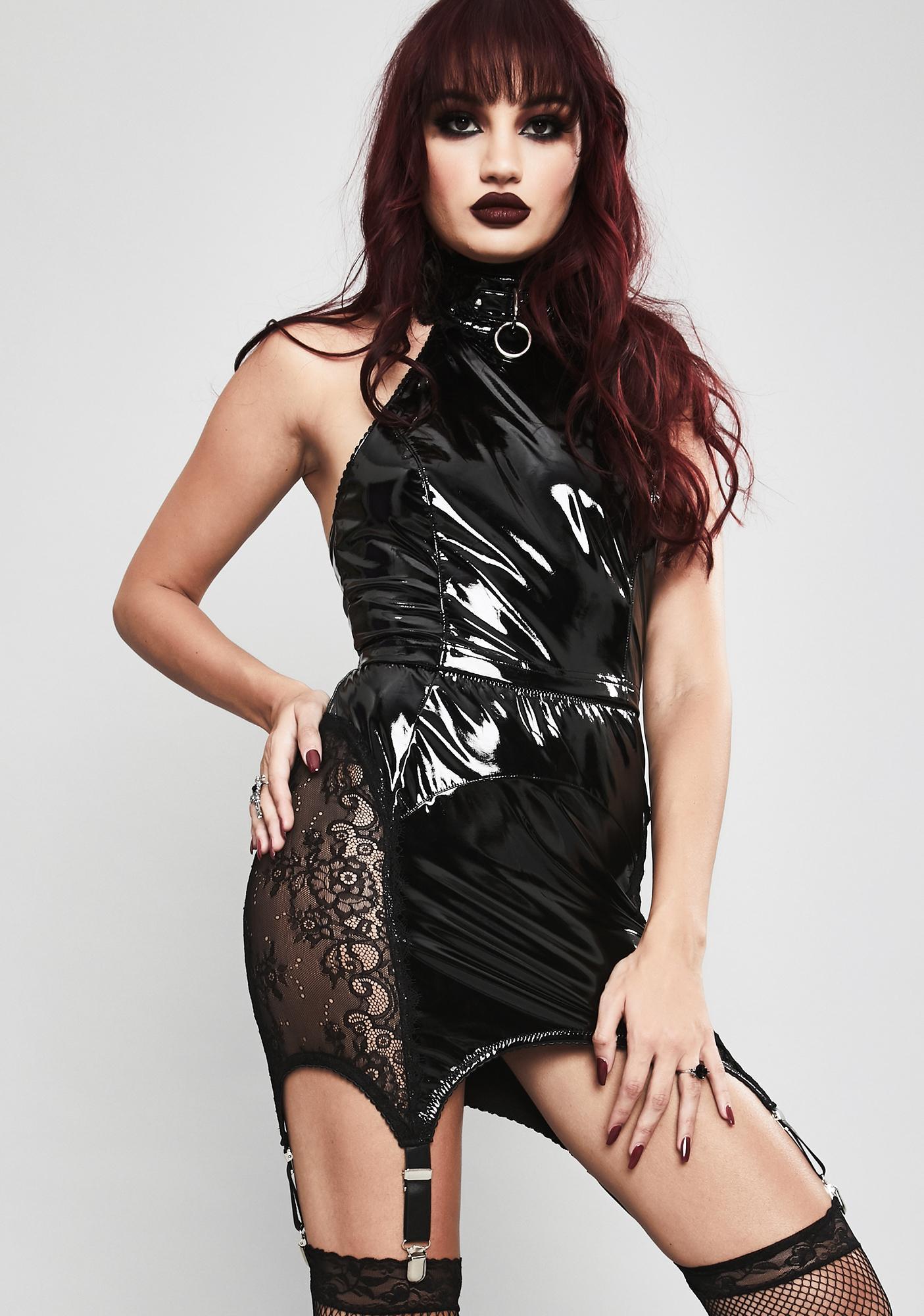 Widow Twisted Desire Vinyl Skirt