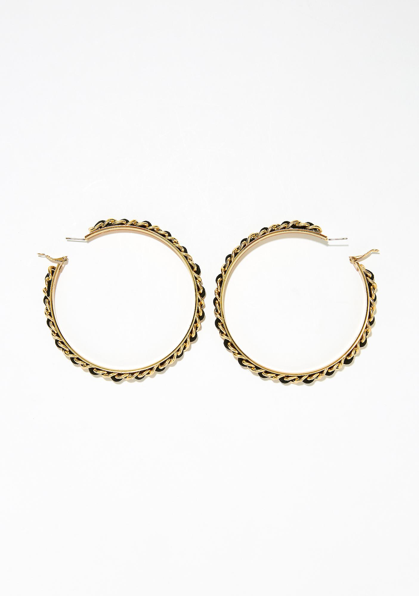 Baddie Mentality Hoop Earrings